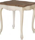 Mesa rincón blanca tapa roble