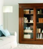 librería dos puertas cristal correderas