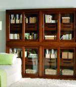 Librería cajones puertas correderas de cristal