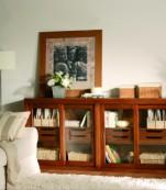Librería cajones puertas correderas cristal