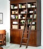 Librería puertas correderas con escalera