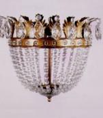 Plafón dorado almendros transparentes