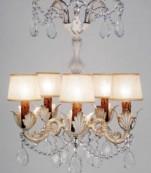 Lampara cinco luces decape almendros transparentes