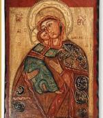 Icono bizantino pintado a mano