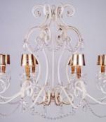 Lampara ocho luces decape almendros transparentes