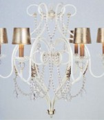 Lampara seis luces decape almendros transparentes