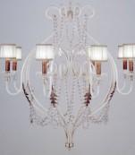 Lampara techo ocho luces decape almendros transparentes