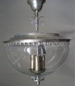 Plafón plata cristal transparente