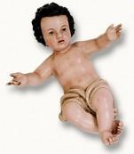 Niño Jesús tallado y policromado