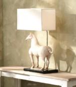 Lámpara caballo ceramica