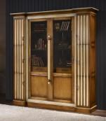 Librero dos puertas cristal correderas seis puertas abatibles
