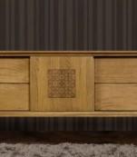 Mueble tv cuatro cajones una puerta